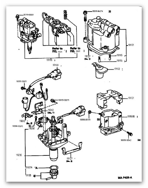 Toyota Distributor Wiring circuit diagram template