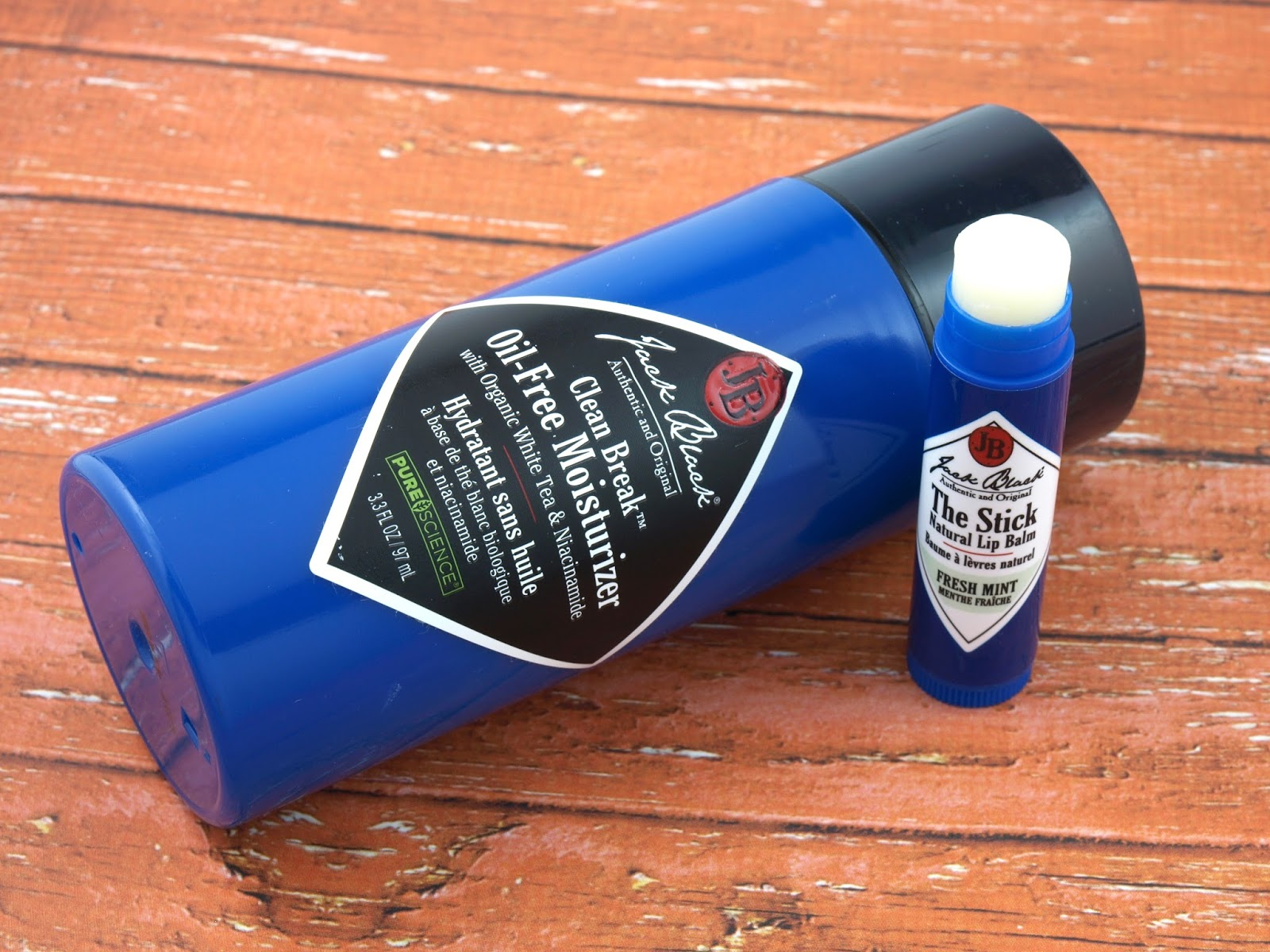 Jack Black Clean Break Oil-Free Moisturizer & The Stick Natural Lip Balm Review