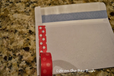 Use washi tape to make DIY envelopes for invitations