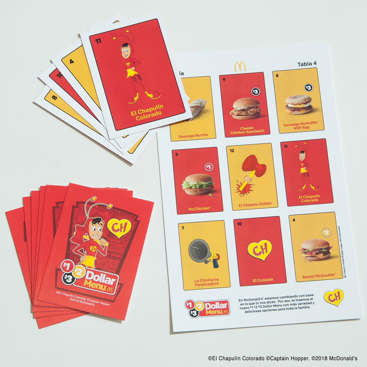 Juguetes del Chapulin Colorado de McDonald's