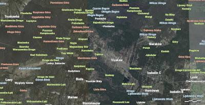 Nazwy geograficzne w Puszczy Kampinoskiej