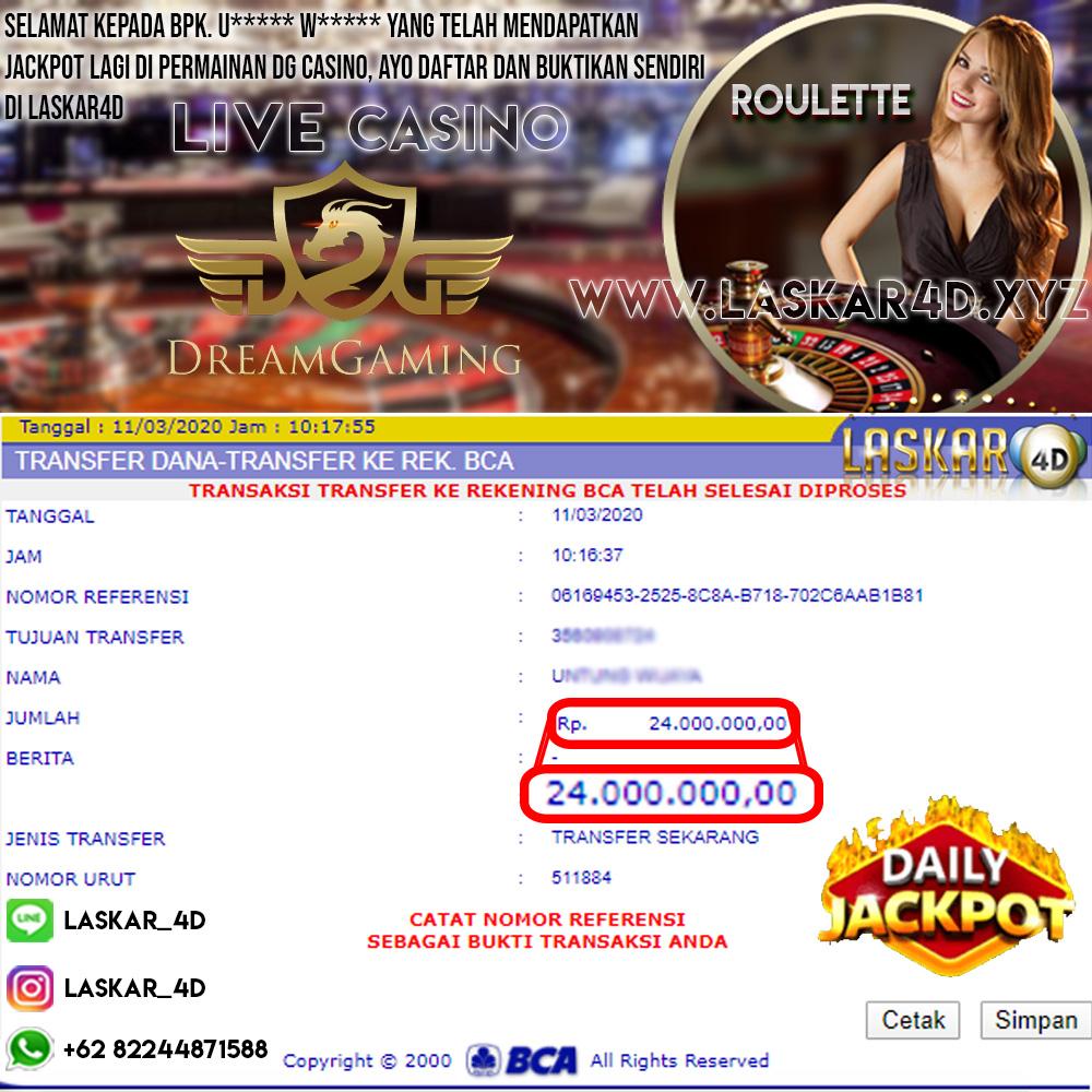 WOW Dengan Kemenangan Besar Bermain Di Casino DG LASKAR4D!