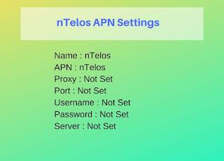 nTelos APN Settings for Android