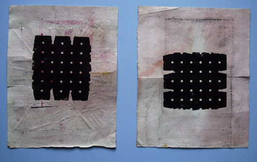 Holey 1 -> 4 | Blot monoprints