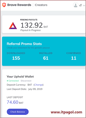Brave Browser Payment Proof