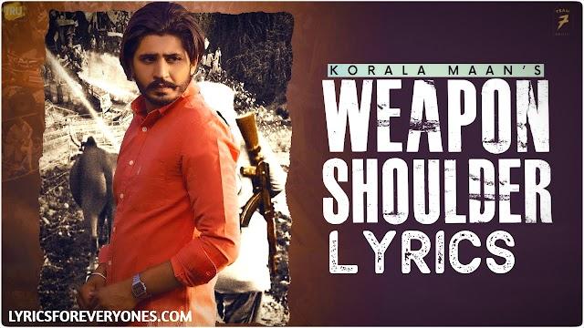 Weapon Shoulder Lyrics