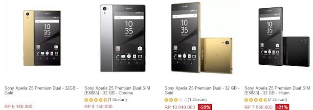 Harga HP Sony Xperia Z5 Premium Tahun 2017 Lengkap Dengan Spesifikasi, Layar 5.5 Inchi, 4G LTE, RAM 3GB, Kamera 23 MP