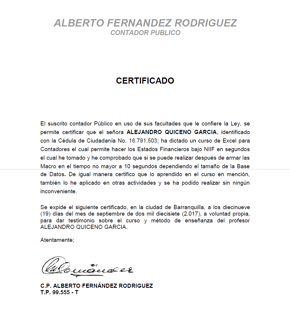 formatos para certificados de cursos