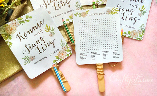 Word Search Wedding Program Fans. Creative Garden Wedding Ideas