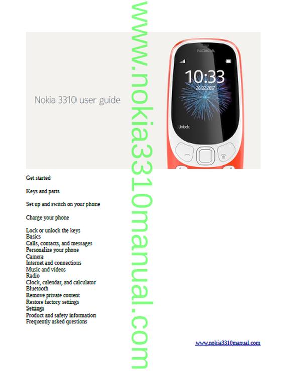 nokia 3310 manual 2017 user guide hmd globalNokia 3310 Troubleshooting #7