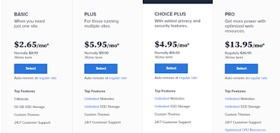 bluehost package price