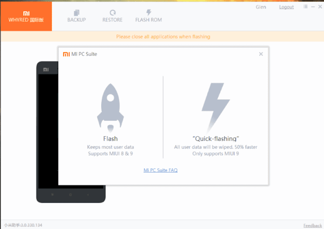 Pilihan Model Flashing Normal atau Quick Flash Mengatasi Bootloop Xiaomi