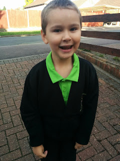 Big Boy on his First day back at School
