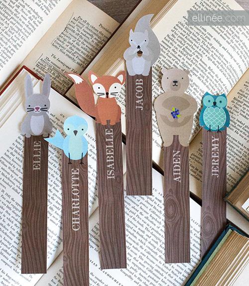 My Owl Barn Printable Woodland Friends Bookmarks