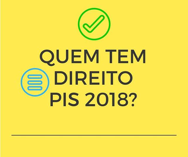 Quem tem direito ao PIS 2018