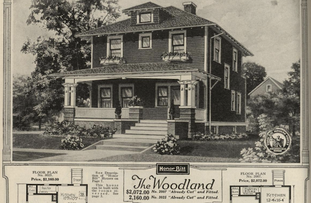 Sears Woodland black and white catalogue image