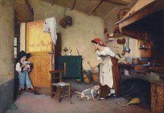 pinturas-realistas-con-figura-humana-en-interiores cuadros-oleo-figura-humana