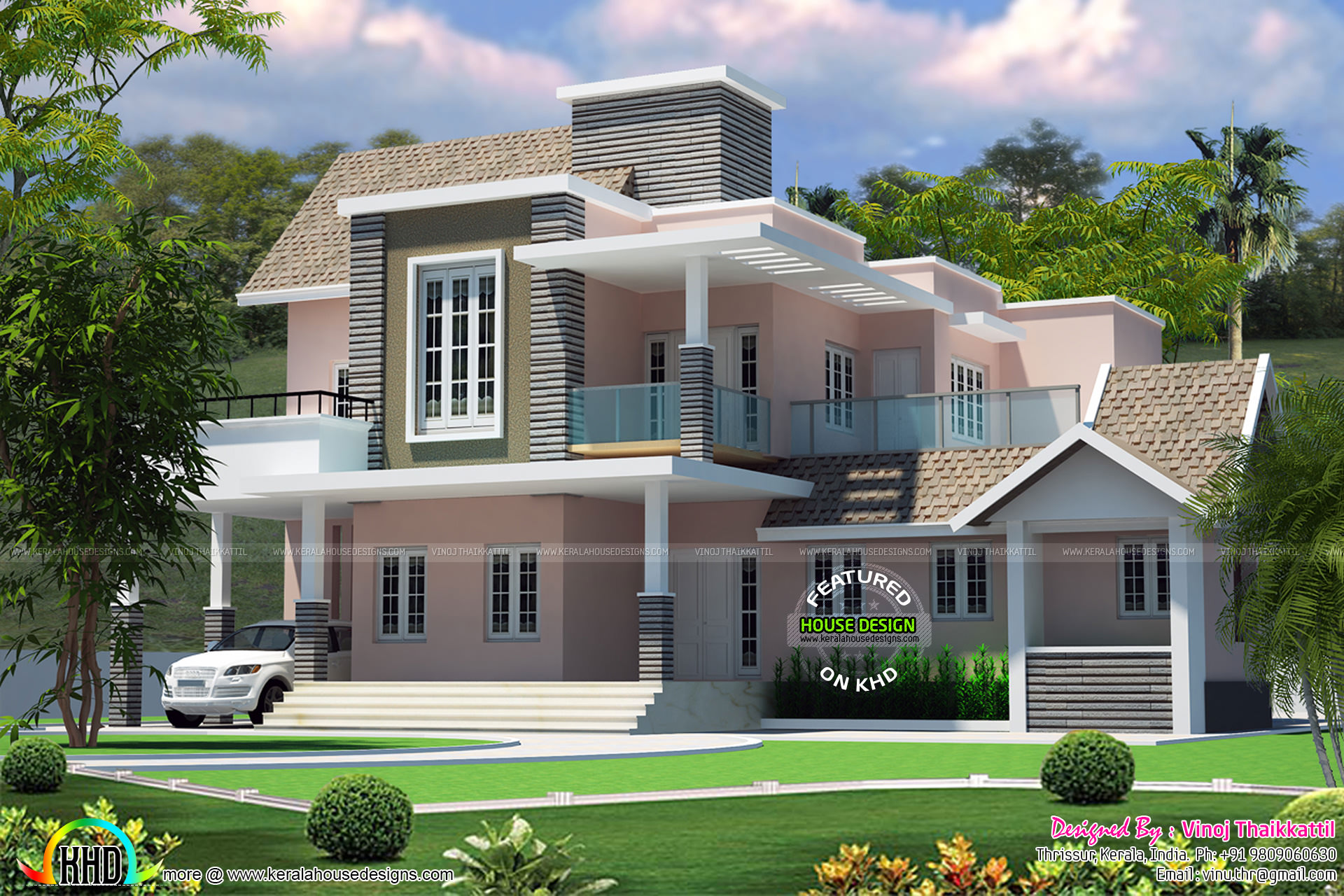 28 cute house designs 3500 sq ft cute luxury indian for Cute house design