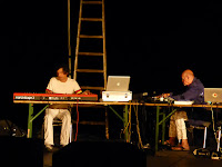 More Ohr Less Brainstorming Orchester - Harald Blüchel, Hans-Joachim Roedelius / photo S. Mazars