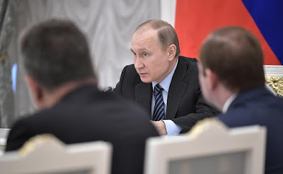 Russian President at the meeting of Council for Strategic Development and Priority Projects.