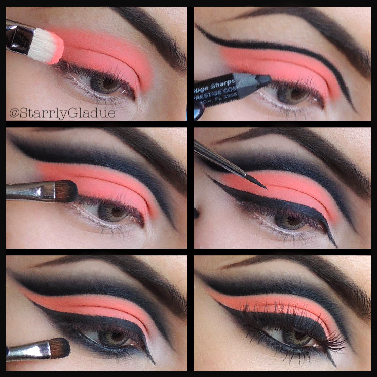 Makeup by Starrly: Neon Orange Cut-Crease Pictorial