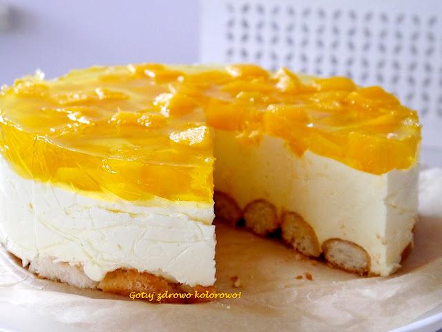 Torcik jogurtowy bez pieczenia z mango - Czytaj więcej »