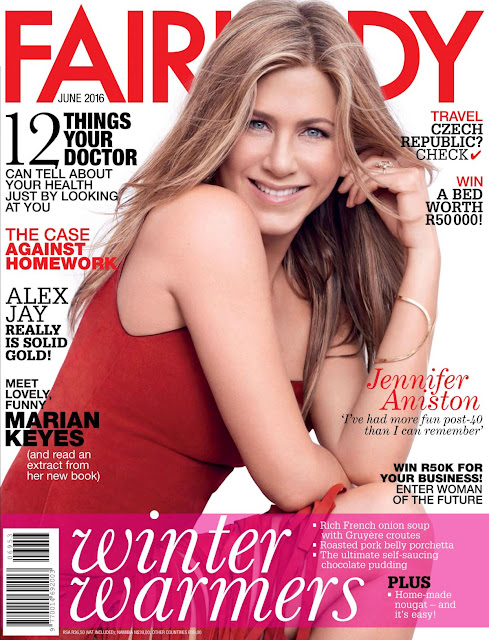 Actress, @ Jennifer Aniston In Fairlady Magazine, June 2016 Issue