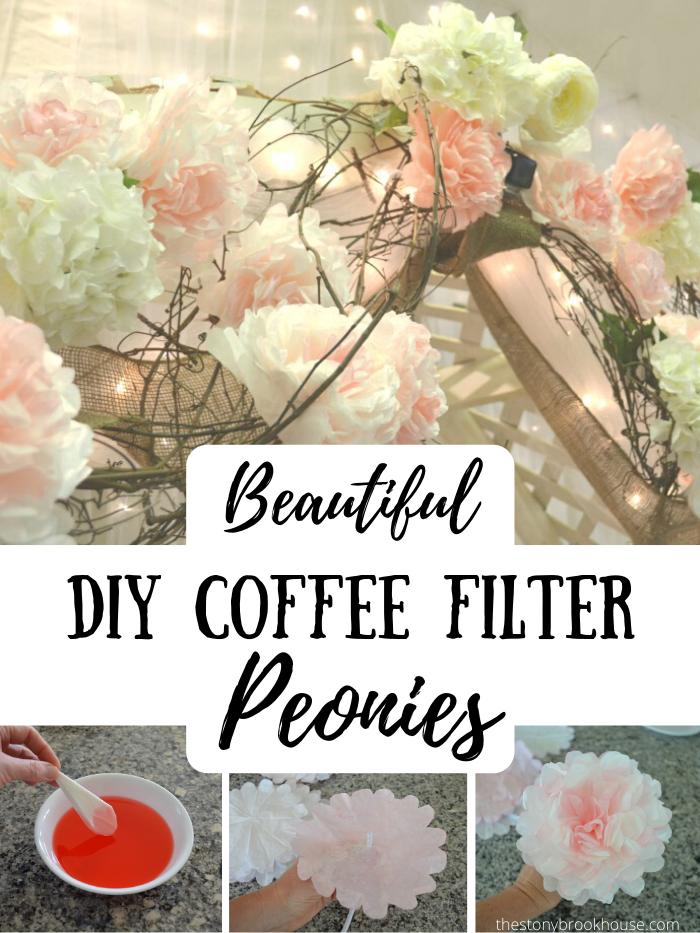 DIY COFFEE FILTER PEONIES