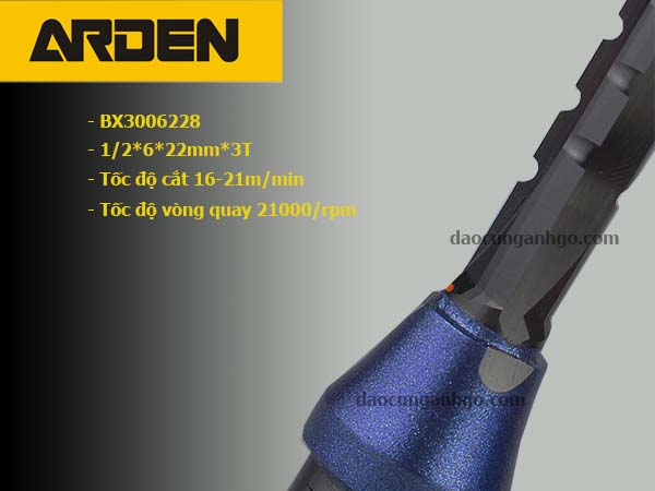 Mũi Router thẳng ARDEN 1/2*6*22mm BX3 Cổ xanh