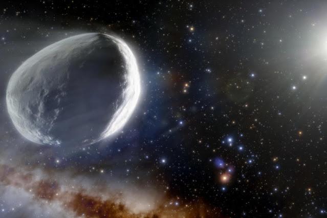 C kuyruklu yıldızının sanatsal görüntüsü / 2014 UN271 Bernardinelli - Bernstein / Bundan sonra kaynak: newatlas.com