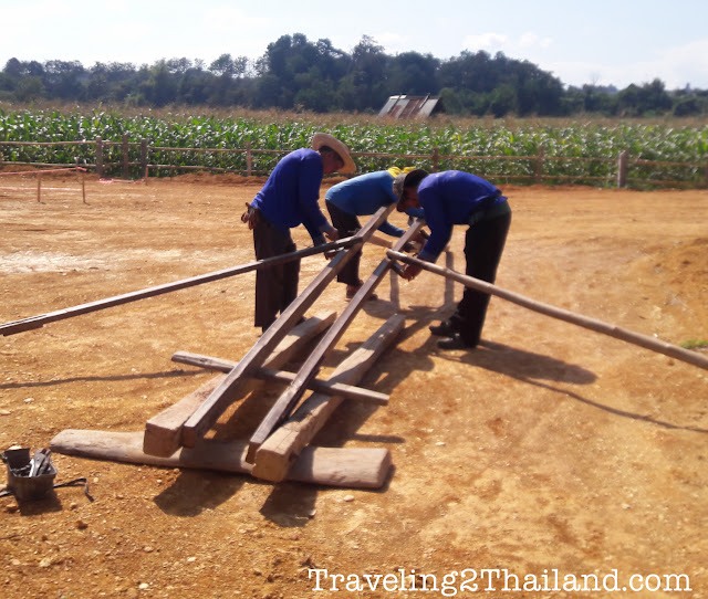 Making a water well in Thailand