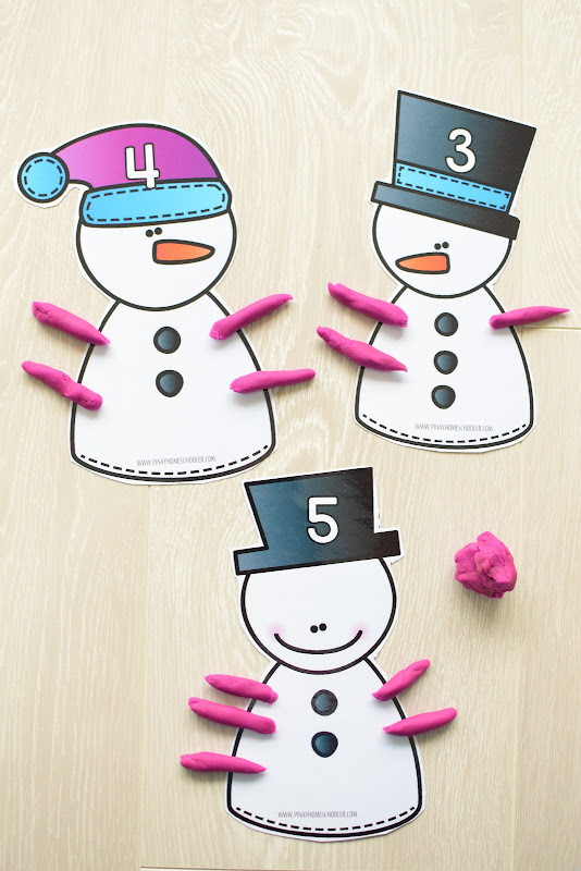 Winter Theme Learning Pack: Snowman Counting