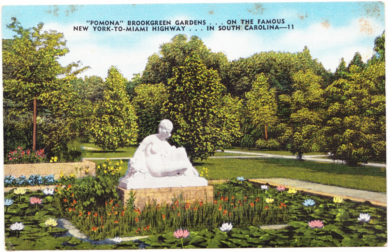 Papergreat: Lovely linen postcards of Brookgreen Gardens in South ...