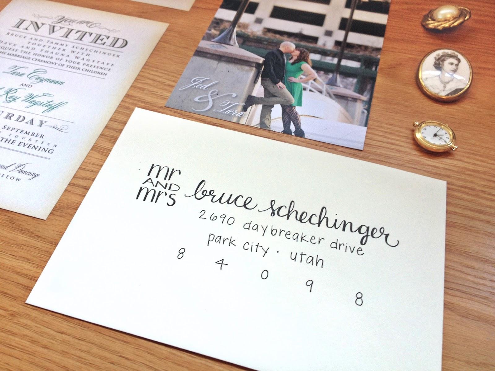The Knot Addressing Wedding Invitations: : Wedding Invitation Envelope Addressing