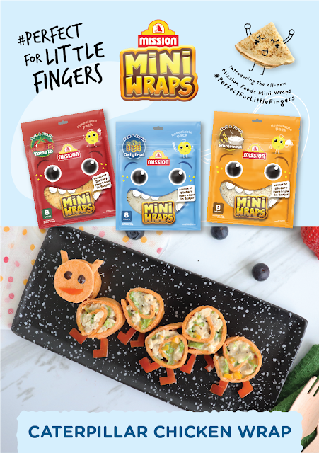 MISSION FOODS Launches All-New Mini Wraps Offering Malaysia's First Kid-Friendly-Sized Wrap - Perfect For Little Fingers