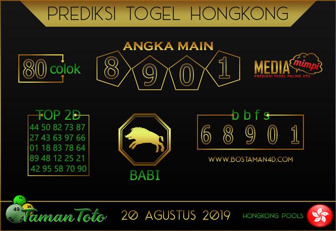 Prediksi Togel HONGKONG TAMAN TOTO 20 AGUSTUS 2019