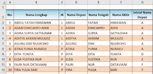 Cara Entri data di Excel super cepat dengan Flash Fill