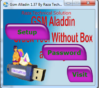Gsm Alladin 1.37 crack By Raza technical Solution