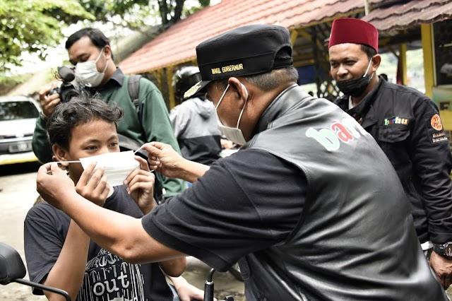 Wagub Jabar  Sidak Masker di Objek Wisata Situ Gede Kota Tasikmalaya