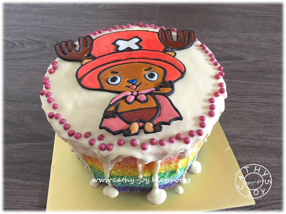 Cathys Joy One Piece Chopper Rainbow Cake