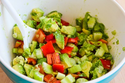 how to keep cut avocado from turning brown in salad