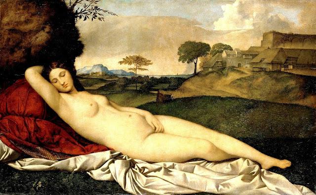 GIORGIONE: Venere dormiente - post coitum