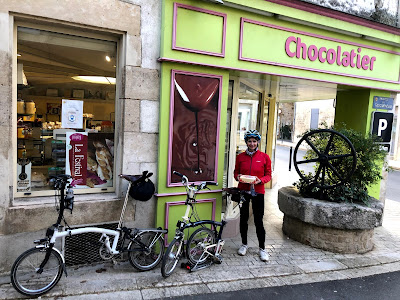 French Village lockdown Diaries day thirty cycling patisserie