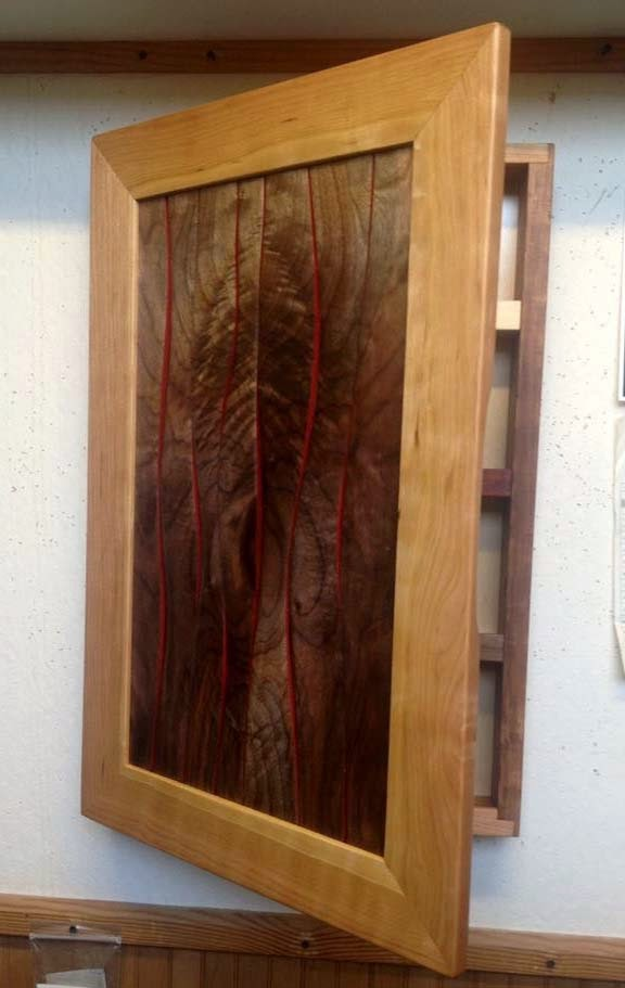 Hardwood Design Wall Mounted Spice Cabinet