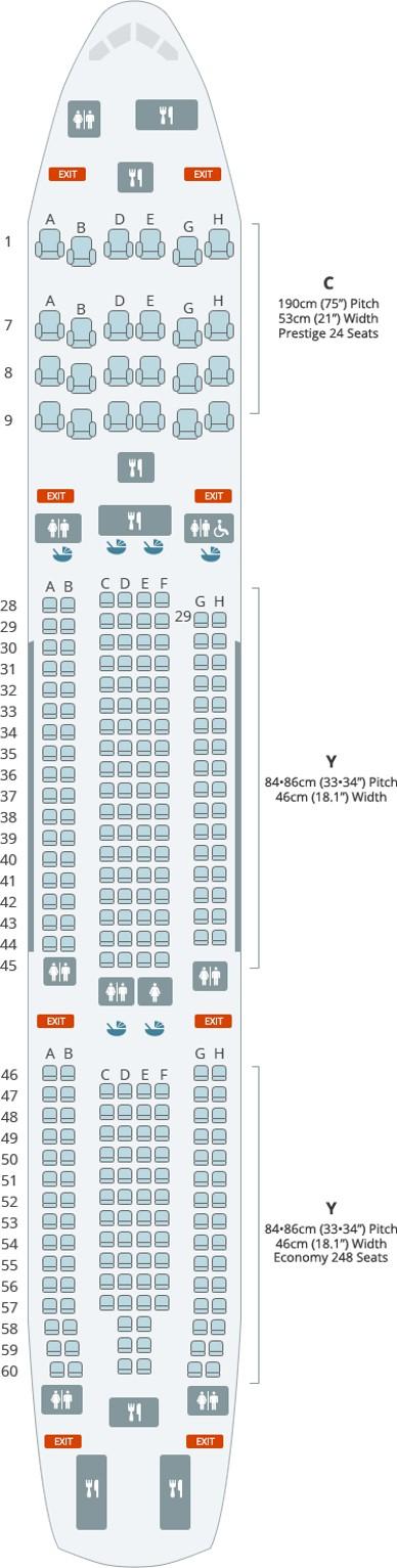 대한항공 A300-300 기내 좌석도