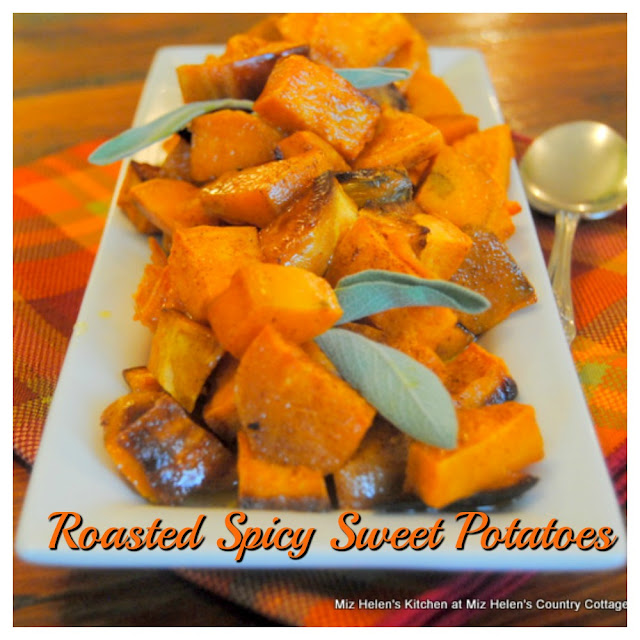 Roasted Spicy Sweet Potatoes at Miz Helens Country Cottage