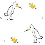 free autumn bird pattern paper