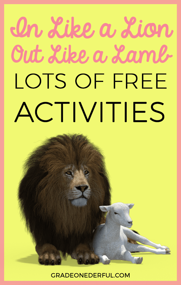 A collection of Lion and Lamb activities for March. Perfect for Grade 1.