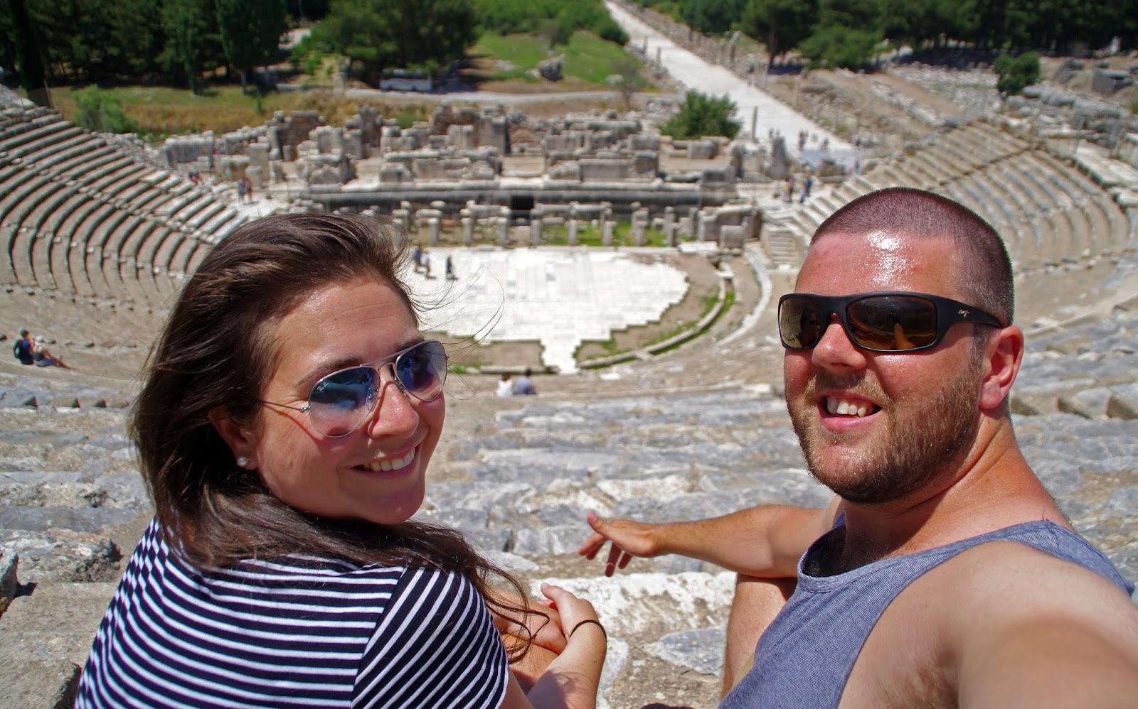 Couple at Ephesus Turkey