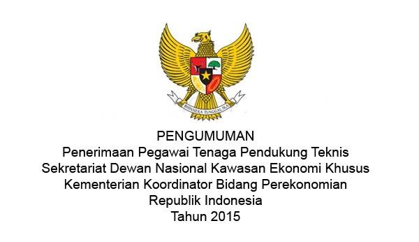 KEMENKO PEREKONOMIAN : TENAGA PENDUKUNG TEKNIS PENGELOLAAN WEBSITE DAN DESAIN GRAFIS - INDONESIA